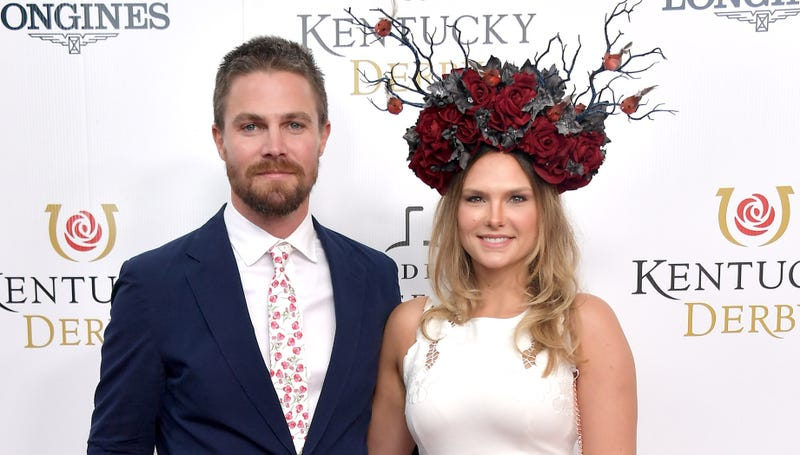 Stephen Amell and Cassandra Jean Amell in 2019