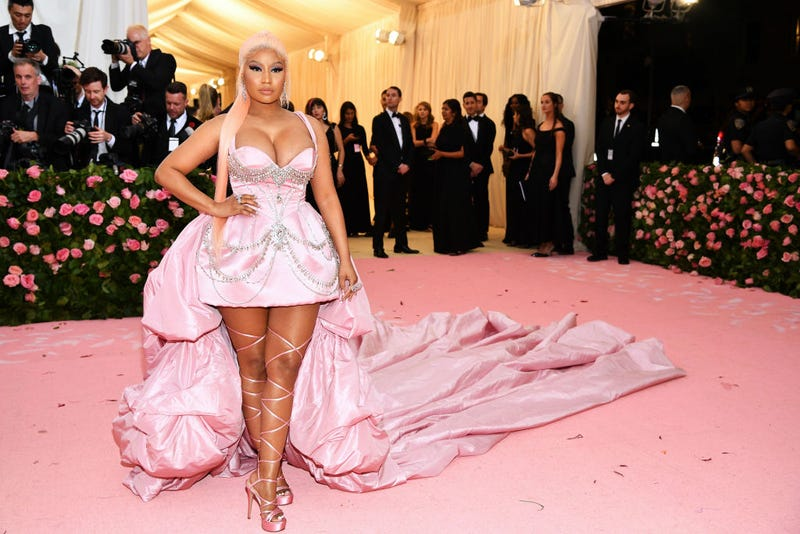 Nicki Minaj attends The 2019 Met Gala Celebrating Camp: Notes on Fashion at Metropolitan Museum of Art on May 06, 2019 in New York City. (Photo by Dimitrios Kambouris