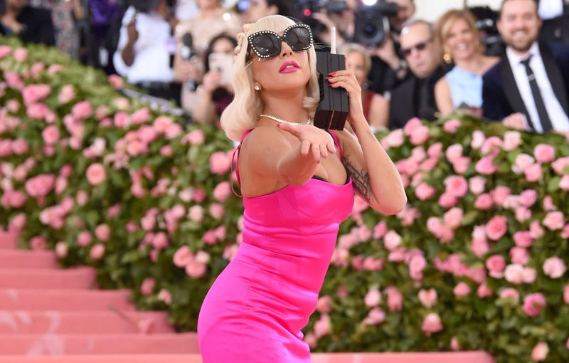 lady gaga in pink gown at met gala