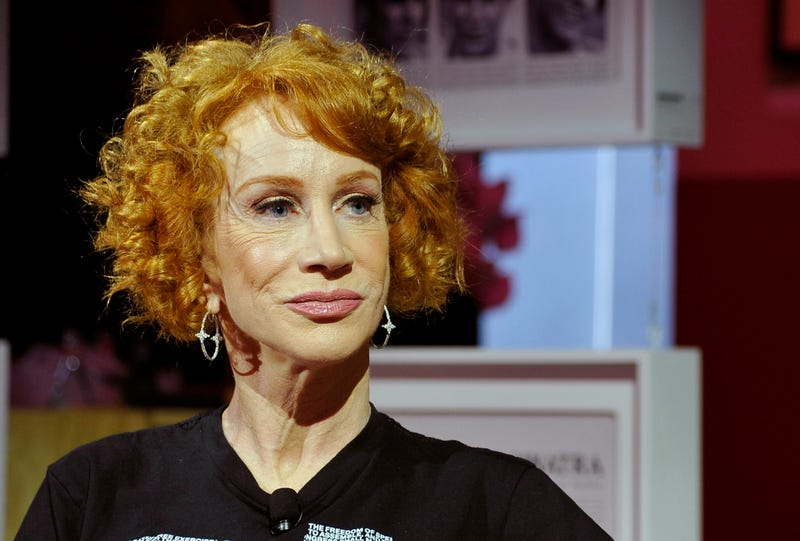 Kathy Griffin speaks on the panel with Roxane Gay at the Playboy Playhouse