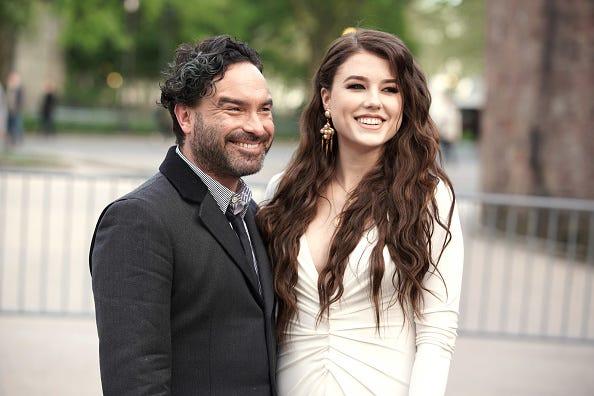 Johnny Galecki and girlfriend Alaina Meyer