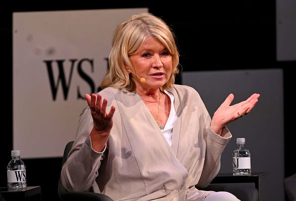 Martha Stewart at a conference