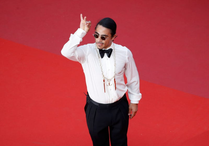 """Nusret Gökçe aka Salt Bae attends the screening of """"The Traitor"""" during the 72nd annual Cannes Film Festival on May 23, 2019 in Cannes, France."""