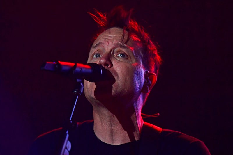 Mark Hoppus singing on stage