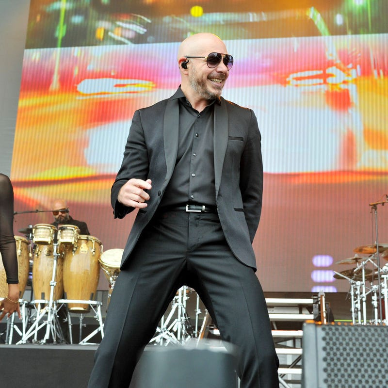 Pitbull performs during Nickelodeon's Second Annual SlimeFest at Huntington Bank Pavilion on June 08, 2019 in Chicago, Illinois.