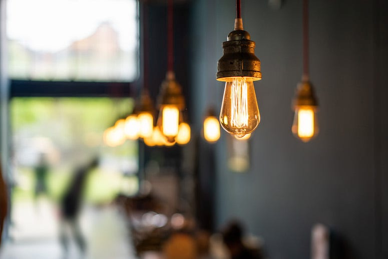 Restaurant, Lights, Lighting