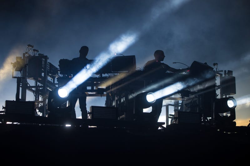 The Chemical Brothers perform on the Other stage on day four of Glastonbury Festival