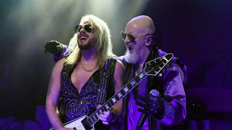 Richie Faulkner and Rob Halford of Judas Priest