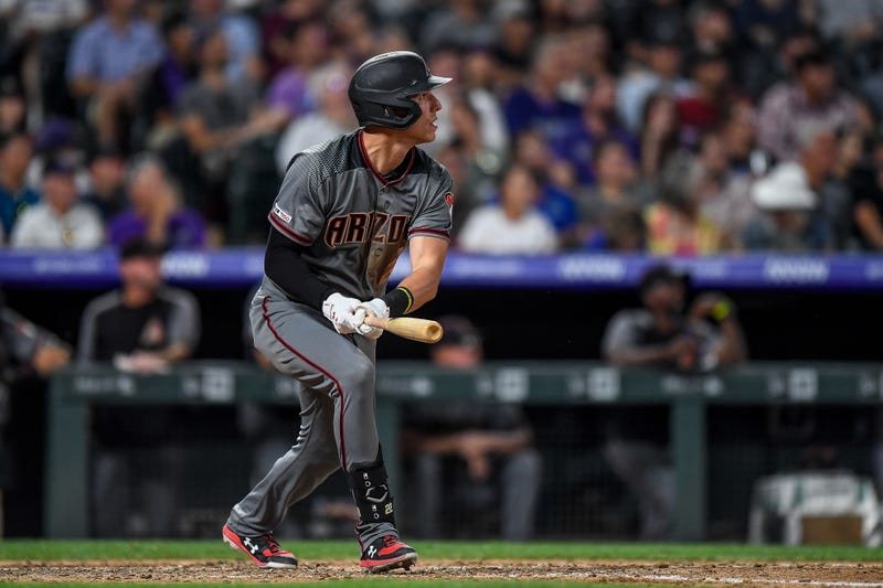 Arizona's Jake Lamb admiring his home run at Coors Field