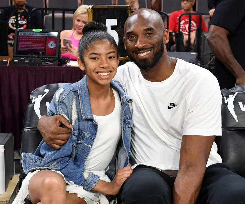gianna and kobe bryant at nba all-star game 2019