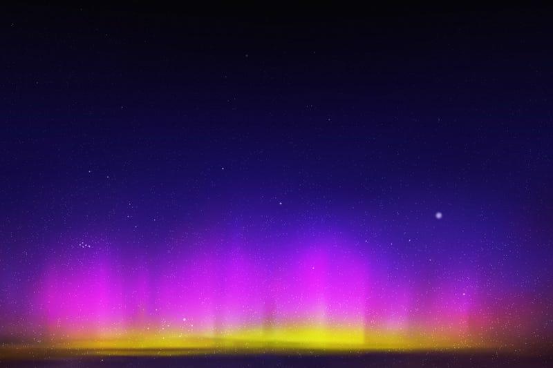 Purple light in sky