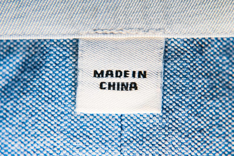 "A clothing tag reading ""Made in China"""