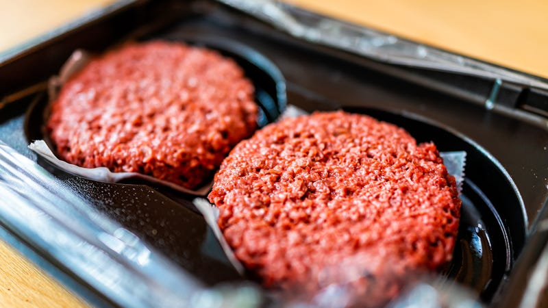 Vegan meat burger patties