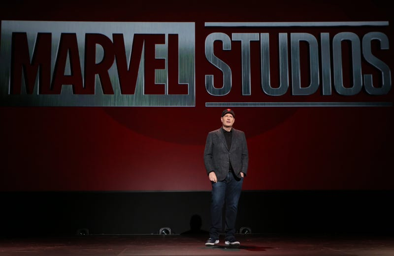 ANAHEIM, CALIFORNIA - AUGUST 24: President of Marvel Studios Kevin Feige took part today in the Walt Disney Studios presentation at Disney's D23 EXPO 2019 in Anaheim, Calif. (