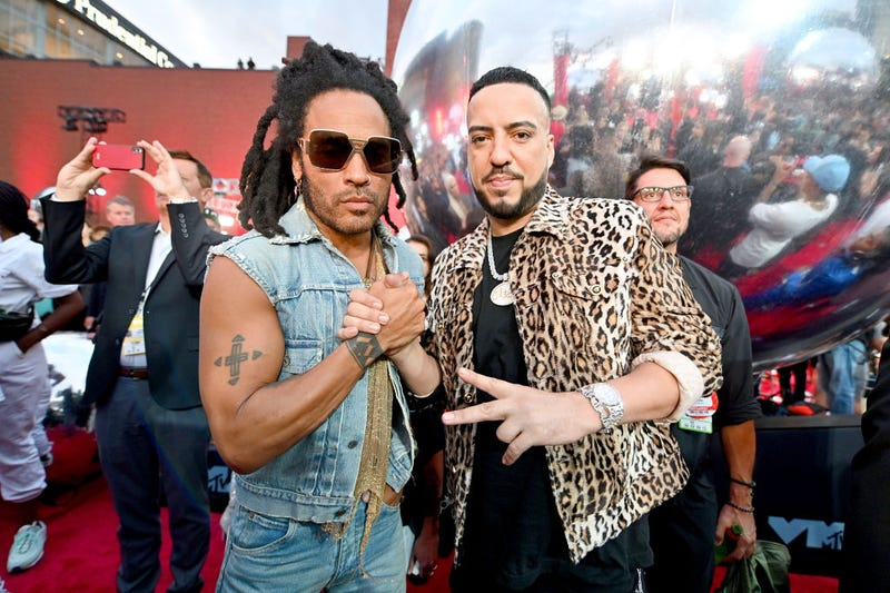 lenny kravitz and french montana at the 2019 vmas