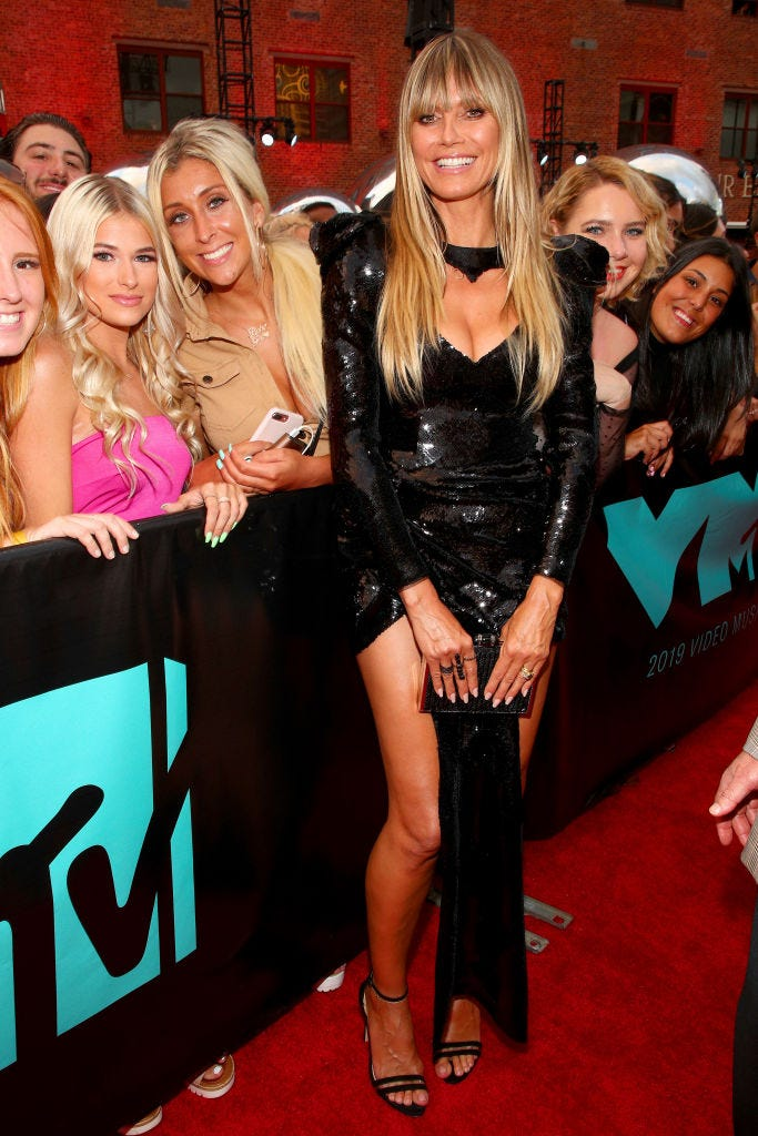 heidi klum at the 2019 vma red carpet