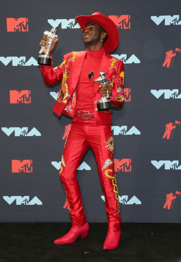 lil nas x in cowboy flair at the vmas