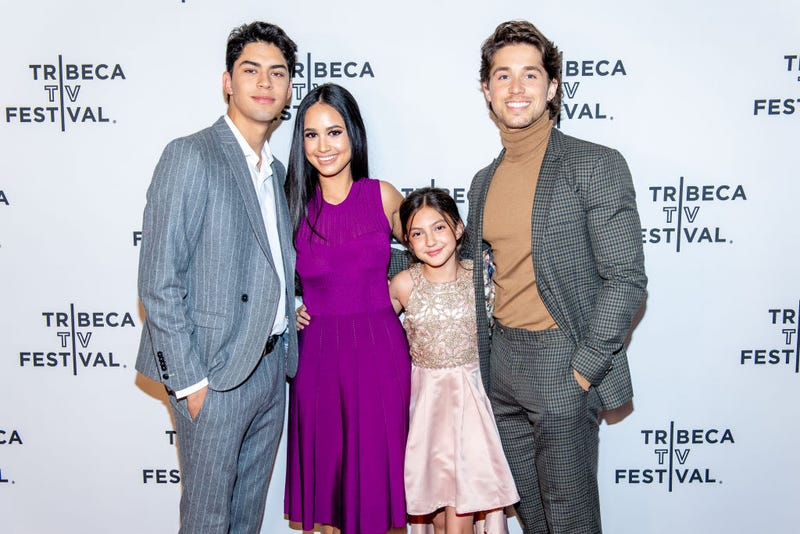 """Niko Guardado, Emily Tosta, Elle Paris Legaspi and Brandon Larracuente attend the """"Party Of Five"""" screening at the 2019 Tribeca TV Festival at Regal Battery Park Cinemas on September 14, 2019 in New York City."""
