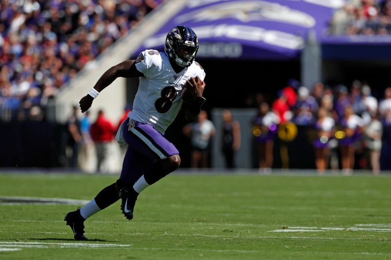 Lamar Jackson will lead the Ravens into Kansas City on Sunday.