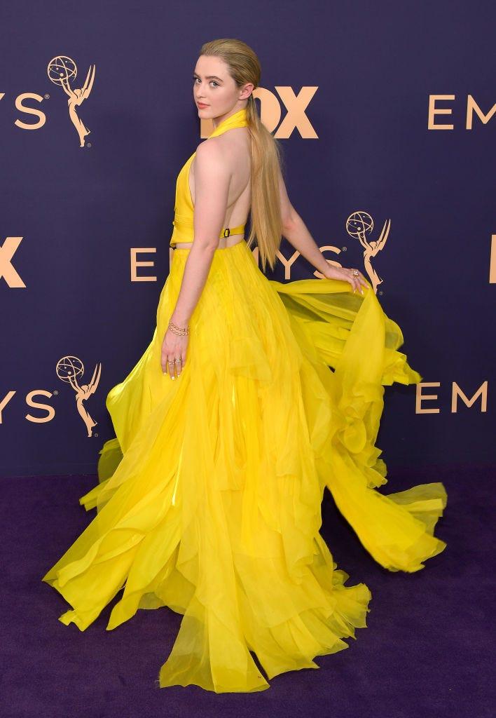 Kathryn Newtom arrives at the 2019 emmy awards
