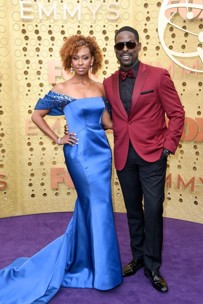 Ryan Michelle Bathe and Sterling K. Brown at the 2019 emmys