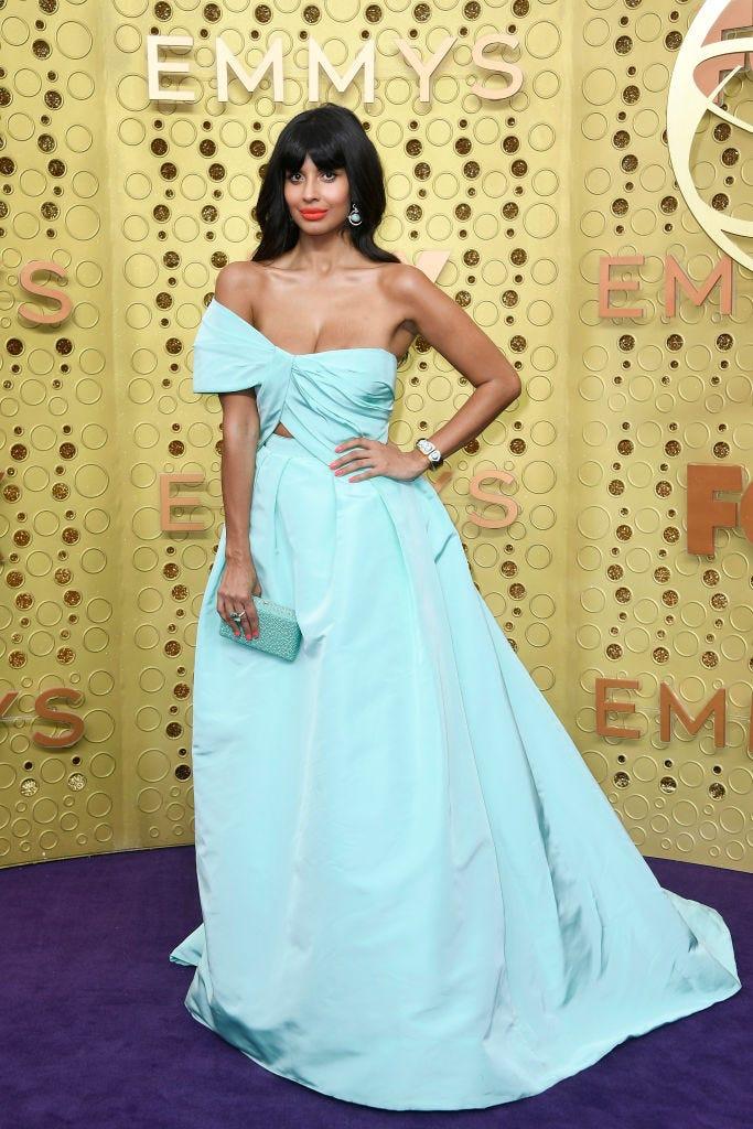 jameela jamil arrives to 2019 emmy awards