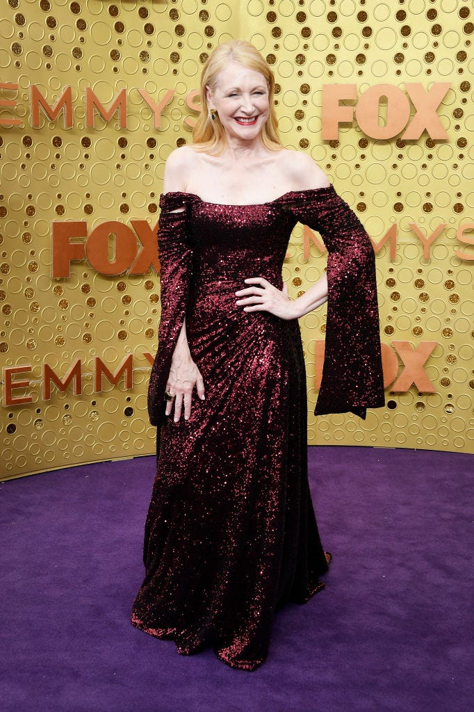 patricia clarkson at the 2019 emmys red carpet