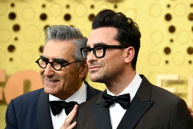 Eugene Levy and Daniel Levy arrive at the 2019 emmy awards
