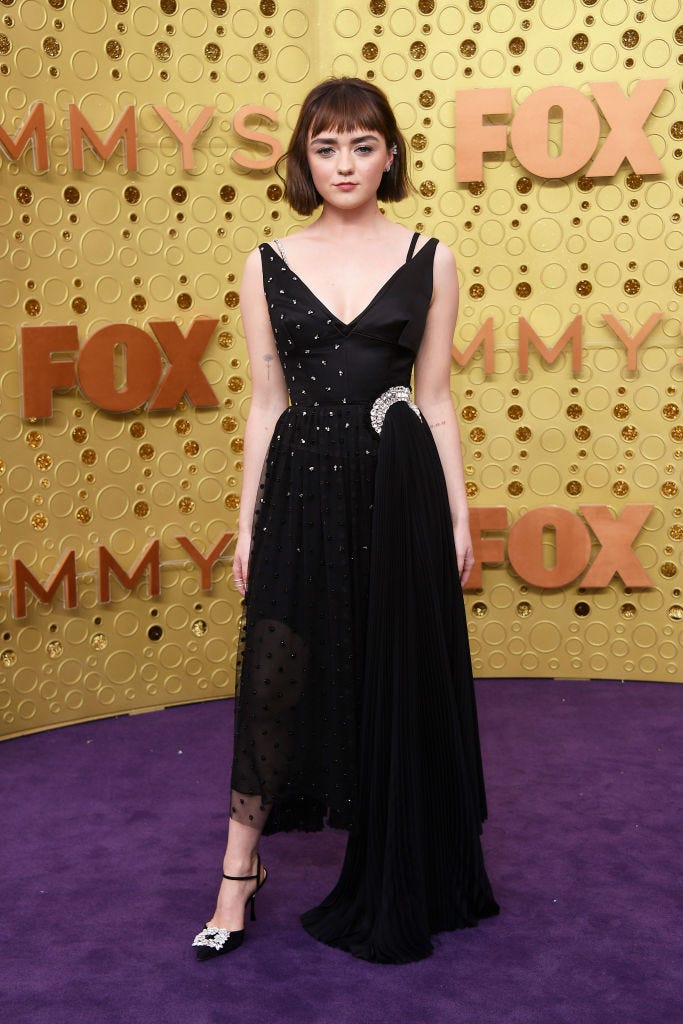 maisie williams arrives at 2019 emmy awards