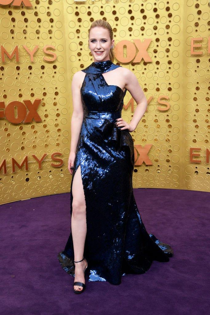 rachel brosnahan at the 2019 emmy awards red carpet