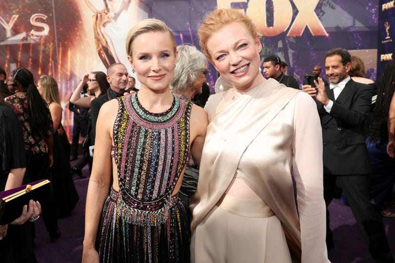 kristin bell and sarah snook at the 2019 emmy awards