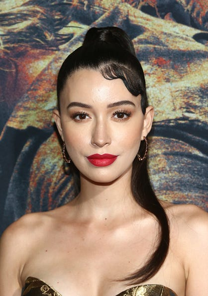 Christian Serratos attends The Walking Dead Premiere and Party on September 23, 2019 in West Hollywood, California.