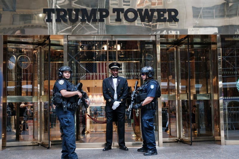: Police stand outside of Trump Tower on September 26, 2019 in New York City. Following the controversy over the phone call between Donald Trump and the president of Ukraine, senate Democrats have launched an impeachment inquiry as the events around the call and the actions following it continue to be of concern to lawmakers.