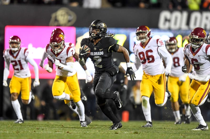 Colorado receiver Laviska Shenault is off to the races
