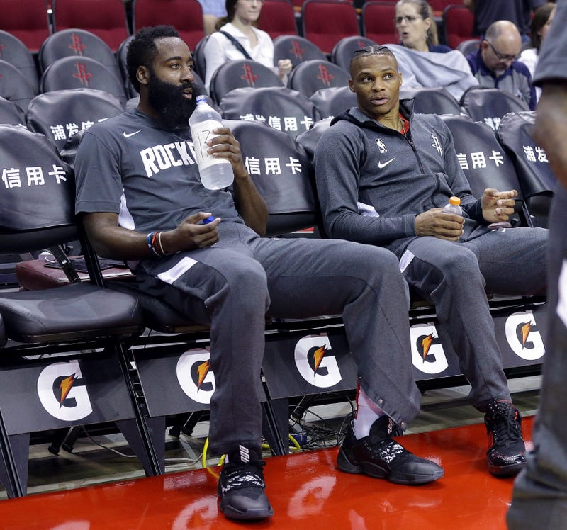 James Harden and Russell Westbrook are teammates again.