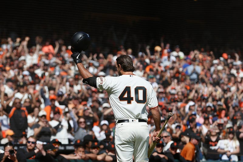 Madison Bumgarner received a standing ovation before his final at-bat of the 2019 season.