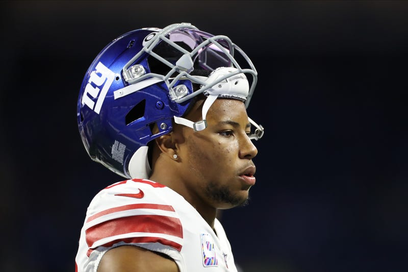 Saquon Barkley has had a disappointing second season in the NFL.