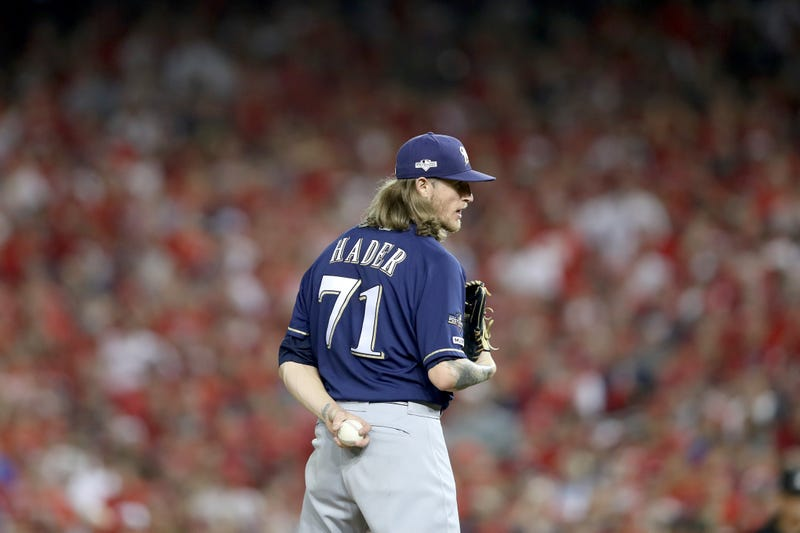Josh Hader would drastically improve the Nationals' bullpen.