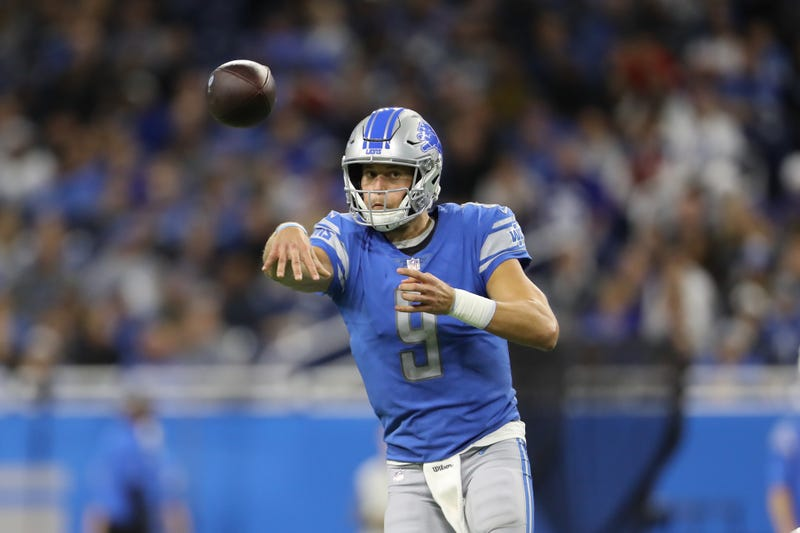 Matthew Stafford stares down his receiver
