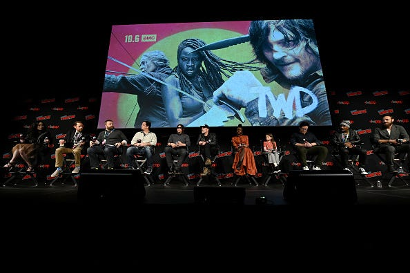 The Walking Dead panel