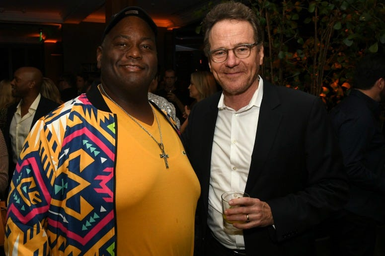 Lavell Crawford and Bryan Cranston