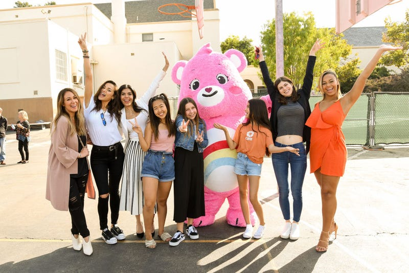Haylie Duff, Christina Ochoa, Sheila Shah, Nina Lu, Rita Angel Taylor, Alexandra Daddario and Nia Soux attend international day of the girl with CARE and Care Bears on October 10, 2019.