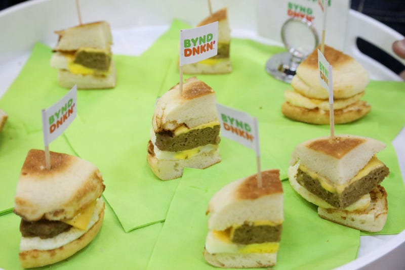 A view of Dunkin Donuts sandwiches on display at the Grand Tasting presented by ShopRite featuring Culinary Demonstrations at The IKEA Kitchen presented by Capital One at Pier 94 on October 12, 2019 in New York City. (Photo by Rob Kim/Getty Images for NYCWFF)