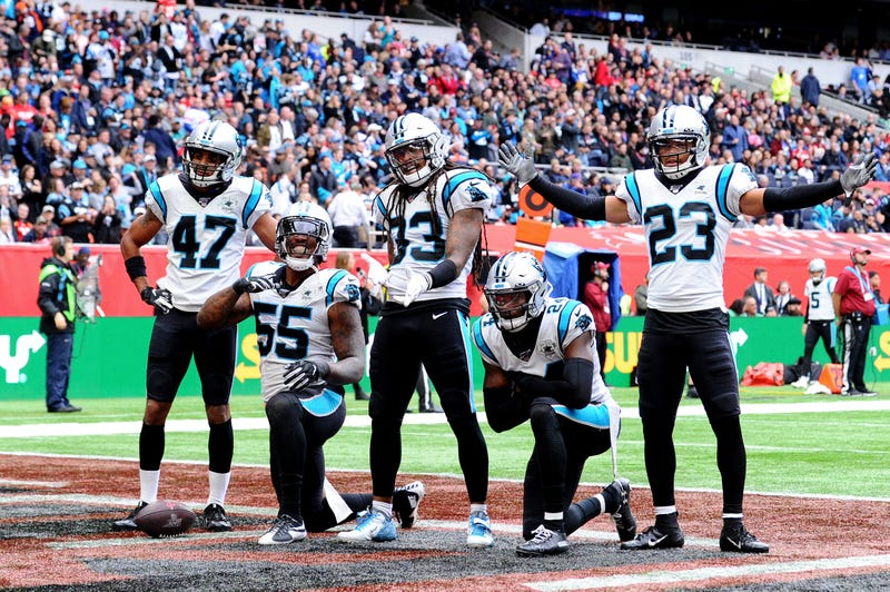 """The Panthers secondary """"Thieves Avenue"""" in 2019"""