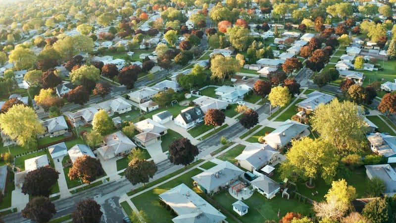 American suburban neighborhood