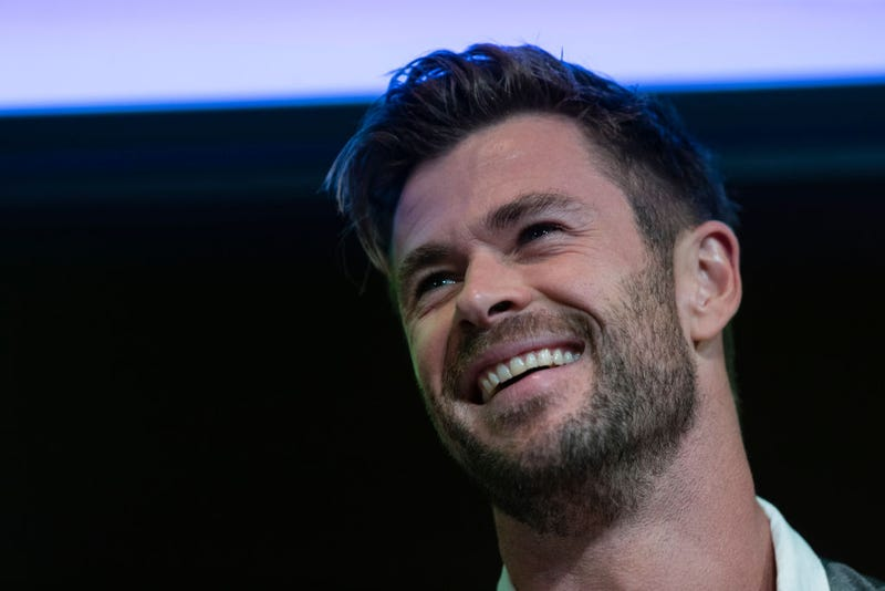 Chris Hemsworth attends a preview of Tourism Australia's latest campaign at Sydney Opera House on October 30, 2019 in Sydney, Australia.
