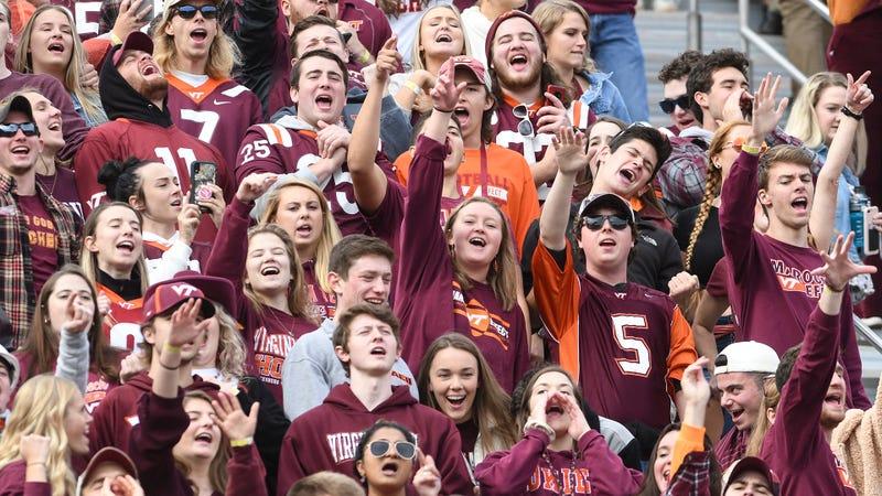 Virginia Tech Hokies fans at Lane Stadium