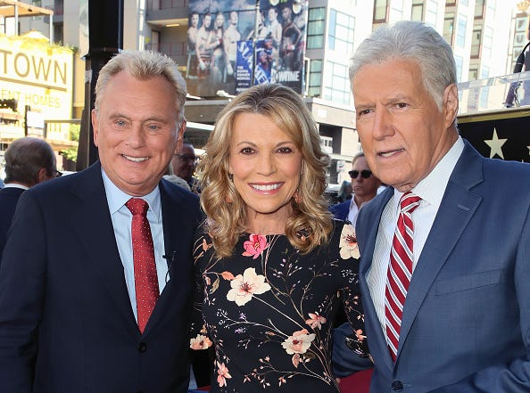 Pat Saja, Vanna White, and Alex Trebek