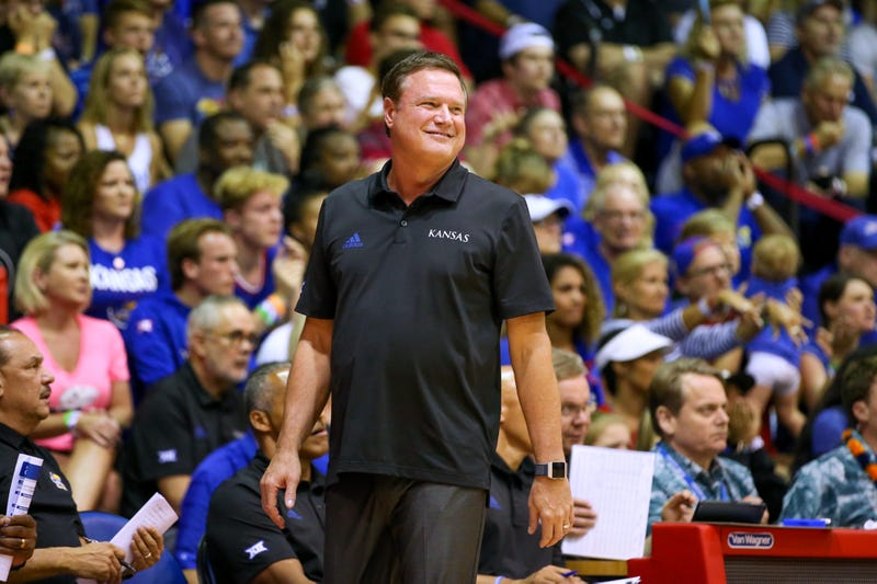 Bill Self and Kansas are on pace to play in March.