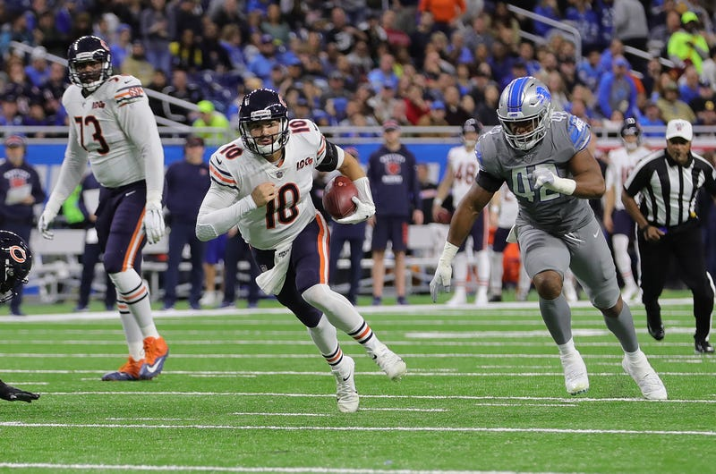 Mitchell Trubisky led the Bears to a win on Thanksgiving.